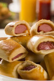 Το λουκάνικο έψησε τα πρόχειρα φαγητά Βραζιλιάνα πρόχειρα φαγητά Στοκ εικόνες με δικαίωμα ελεύθερης χρήσης