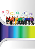 Το ουράνιο τόξο χρωματίζει τους ανθρώπους ελεύθερη απεικόνιση δικαιώματος