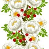 το λουλούδι ανθών ανασκόπησης ανθίζει το λευκό ουρανού αφηρημένο πρότυπο κομψότητ&alph απεικόνιση αποθεμάτων