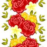 το λουλούδι ανθών ανασκόπησης ανθίζει το λευκό ουρανού Ρομαντικό βοτανικό σχέδιο απεικόνιση αποθεμάτων
