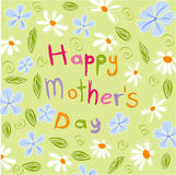 το λουλούδι ημέρας δίνει το γιο μητέρων mum ελεύθερη απεικόνιση δικαιώματος