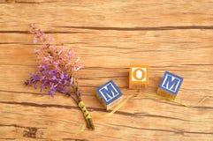 το λουλούδι ημέρας δίνει το γιο μητέρων mum Στοκ εικόνα με δικαίωμα ελεύθερης χρήσης