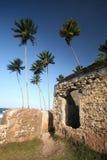 Το οχυρό τοίχων σε Morro κάνει το Σάο Πάολο, Bahia _ στοκ φωτογραφία