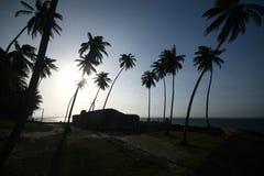 Το οχυρό τοίχων σε Morro κάνει το Σάο Πάολο, Bahia _ στοκ εικόνες