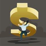 Το δολάριο πηγαίνει κάτω διανυσματική απεικόνιση