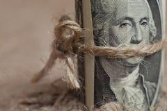 Το δολάριο, που δένεται με ένα σχοινί Στοκ Φωτογραφία