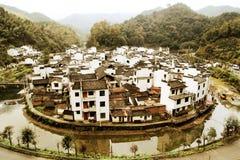 Το ο πιό γύρω από χωριό στην Κίνα, χωριό Jujing στοκ εικόνες