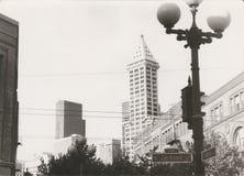 Το 1982 οδός του Τζάκσον στο Σιάτλ, πολιτεία της Washington, ΗΠΑ Στοκ Εικόνες