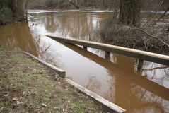 Το πάρκο μάχης δύσκολο τοποθετεί την πλημμύρα της βόρειας Καρολίνας στοκ εικόνα