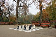 Το πάρκο με το σκάκι λογαριάζει το φθινόπωρο Στοκ εικόνες με δικαίωμα ελεύθερης χρήσης