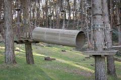 Το πάρκο περιπέτειας στο δάσος Στοκ φωτογραφία με δικαίωμα ελεύθερης χρήσης