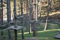 Το πάρκο περιπέτειας στο δάσος Στοκ φωτογραφίες με δικαίωμα ελεύθερης χρήσης