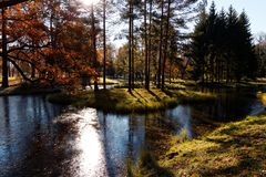 Το πάρκο σε StPeterburg Στοκ εικόνες με δικαίωμα ελεύθερης χρήσης