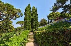 Το πάρκο στη μεσογειακή ακτή στην Ισπανία Στοκ φωτογραφία με δικαίωμα ελεύθερης χρήσης