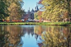 Το πάρκο στο Castle de Haar είναι ο καθορισμός της φαντασίας Fai νεραιδών Στοκ Φωτογραφία