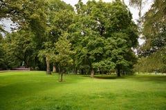 Το πάρκο της Royal Palace στο Όσλο Στοκ Εικόνες