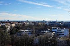 Το πάρκο Luitpold κοντά στο ολυμπιακό πάρκο στο Μόναχο - τη Βαυαρία - τη Γερμανία στοκ φωτογραφίες με δικαίωμα ελεύθερης χρήσης
