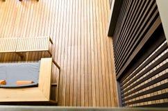 το πάτωμα εμφανίζει τοίχο &sig Στοκ Φωτογραφία