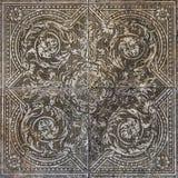 Το πάτωμα κεραμώνει το σχέδιο λουλουδιών διακοσμήσεων επιφάνειας Στοκ Εικόνες