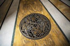 Το πάτωμα του baptistry στη βασιλική του ST John Lateran στη Ρώμη Ιταλία Στοκ φωτογραφία με δικαίωμα ελεύθερης χρήσης