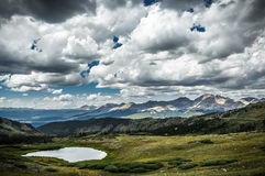 Το πέρασμα Cottonwood, Κολοράντο ηπειρωτικό διαιρεί Στοκ Εικόνες