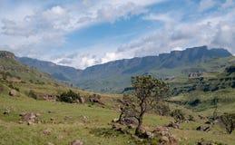 Το πέρασμα Sani, ένα πολύ πέρασμα υψηλών βουνών που συνδέει τη Νότια Αφρική με το Λεσόθο στοκ φωτογραφίες με δικαίωμα ελεύθερης χρήσης