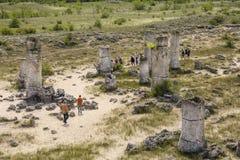 Το πέτρινο δάσος - Pobiti Kamani και Dikilitash, Βουλγαρία Στοκ Εικόνες