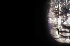 Το πέτρινο πρόσωπο σε Bayon στο Μαύρο, Angkor, Siem συγκεντρώνει, Καμπότζη Στοκ Εικόνα