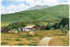 Το πέτρινο σπίτι μπορεί Pere Ros Στοκ Εικόνες