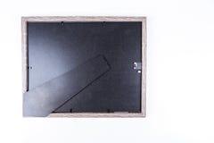 Το πίσω μέρος ενός γκρίζου πλαισίου εικόνων Στοκ φωτογραφία με δικαίωμα ελεύθερης χρήσης