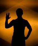 το πίσω χέρι άναψε αυξημένη τη Στοκ εικόνες με δικαίωμα ελεύθερης χρήσης