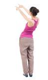 το πίσω ψαλίδισμα ανασκόπησης πνίγει την εικόνα χεριών περιλαμβάνει το μονοπάτι απομακρύνει τη γυναίκα όψης Στοκ Φωτογραφία
