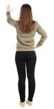 το πίσω ψαλίδισμα ανασκόπησης πνίγει την εικόνα χεριών περιλαμβάνει το μονοπάτι απομακρύνει τη γυναίκα όψης Στοκ Εικόνες