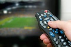 Το Παγκόσμιο Κύπελλο τελειώνει, αφήνει την αλλαγή το κανάλι Στοκ Φωτογραφία