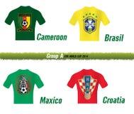 Το Παγκόσμιο Κύπελλο το 2014 της FIFA ομαδοποιεί το Α διανυσματική απεικόνιση