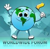 Το παγκόσμιο φόρουμ δείχνει ότι διεθνοποιήστε την επικοινωνία τρισδιάστατο Illustratio απεικόνιση αποθεμάτων