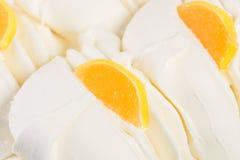 Το παγωτό βανίλιας με ξεραίνει τα φρούτα Στοκ Εικόνα