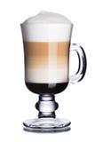 το παγωτό καφέ κοκτέιλ ανασκόπησης απομόνωσε το λευκό Στοκ εικόνα με δικαίωμα ελεύθερης χρήσης