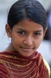 το παιδί ντύνει τις ινδικές Στοκ Εικόνα