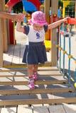 Το παιδί παίζει στην παιδική χαρά Στοκ εικόνα με δικαίωμα ελεύθερης χρήσης