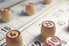Το παιχνίδι του bingo Στοκ Εικόνες