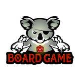 Το παιχνίδι Koala χωρίζει σε τετράγωνα Στοκ Εικόνες