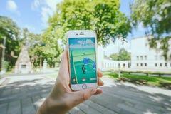 Το παιχνίδι Pokemon πηγαίνει παιχνίδι Στοκ Εικόνα