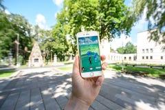 Το παιχνίδι Pokemon πηγαίνει παιχνίδι Στοκ εικόνες με δικαίωμα ελεύθερης χρήσης