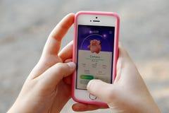 Το παιχνίδι Pokemon πηγαίνει Στοκ εικόνα με δικαίωμα ελεύθερης χρήσης