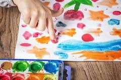 Τέχνη Handprint Στοκ φωτογραφία με δικαίωμα ελεύθερης χρήσης