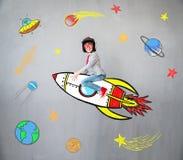 Το παιδί προσποιείται να είναι επιχειρηματίας Στοκ εικόνες με δικαίωμα ελεύθερης χρήσης