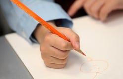 το παιδί σύρει Στοκ εικόνες με δικαίωμα ελεύθερης χρήσης