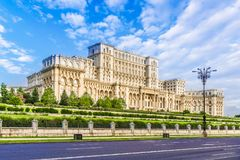 Το παλάτι του Κοινοβουλίου, Βουκουρέστι, Ρουμανία στοκ εικόνες