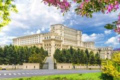 Το παλάτι του Κοινοβουλίου, Βουκουρέστι στοκ εικόνα